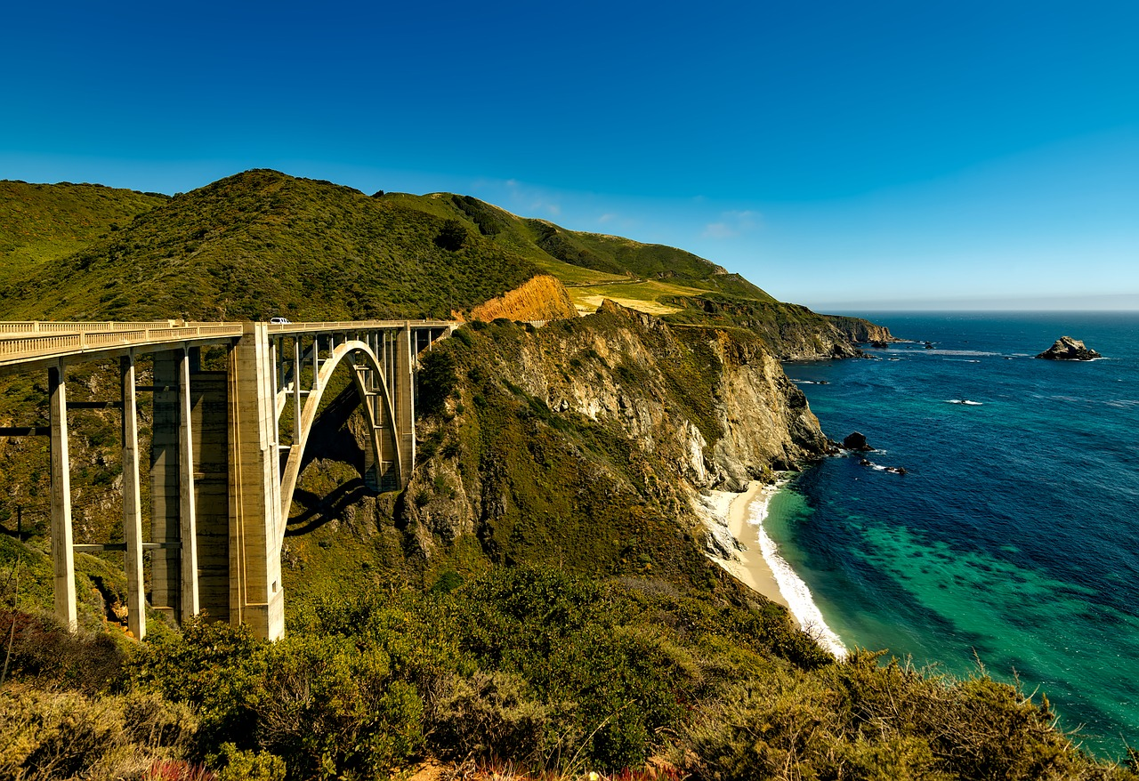 Highway 1, also known as the PCH (Pacific Coast Highway)
